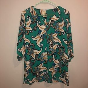 Franchesca's floral blouse NWT